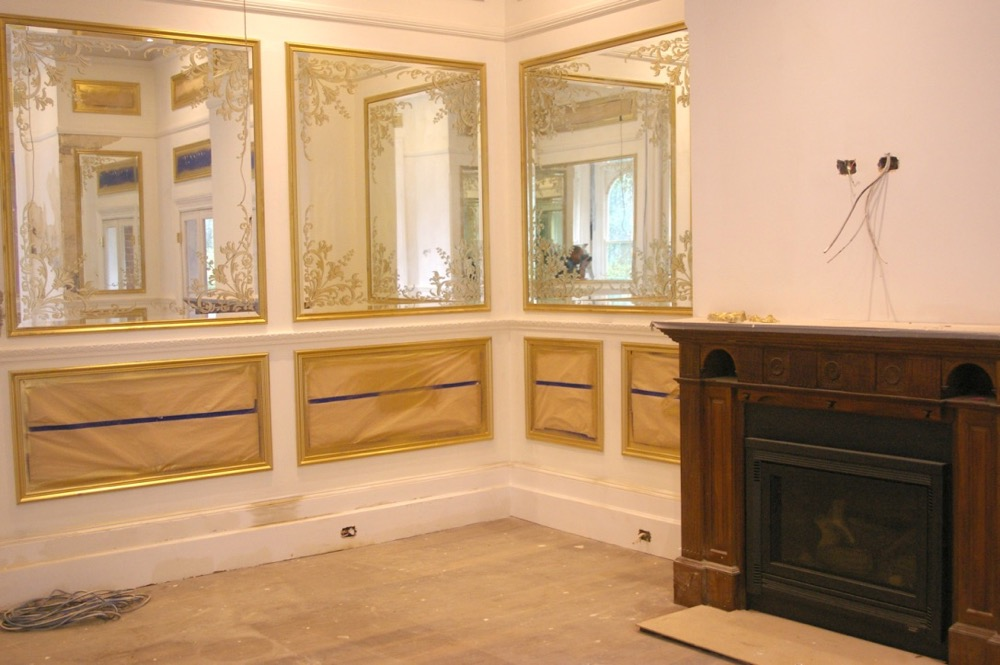blair athol gold trim and fireplace painting interior residential