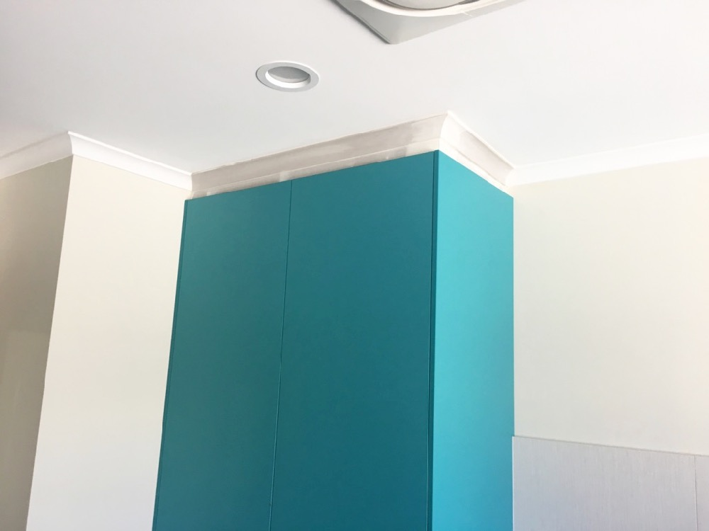 blue trim interior house painting